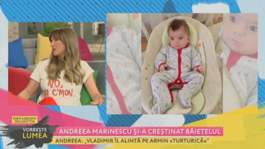 Andreea Marinescu si-a crestinat baietelul