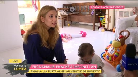 Fiica Amaliei Enache a implinit 1 an