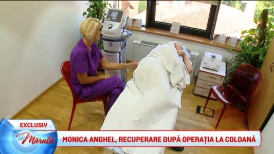 Monica Anghel, recuperare dupa operatia la coloana