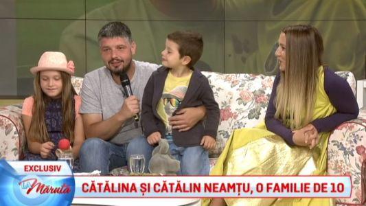 Catalina si Catalin Neamtu, o familie de 10