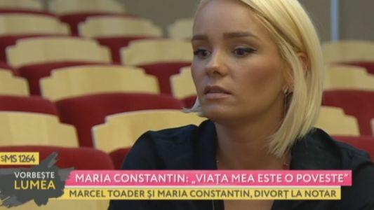 """Maria Constantin: """"Viata mea este o poveste"""""""
