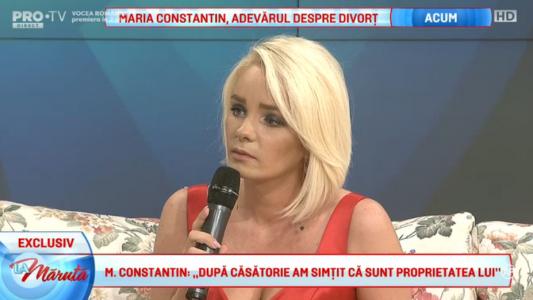 Maria Constantin, adevarul despre Marcel Toader