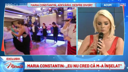 """Maria Constantin: """"Am simtit ca sunt proprietatea lui"""""""