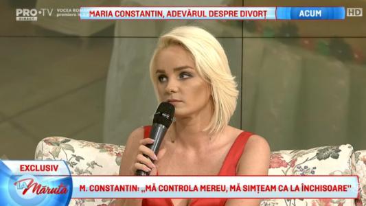 Maria Constantin, mesaj pentru Marcel Toader