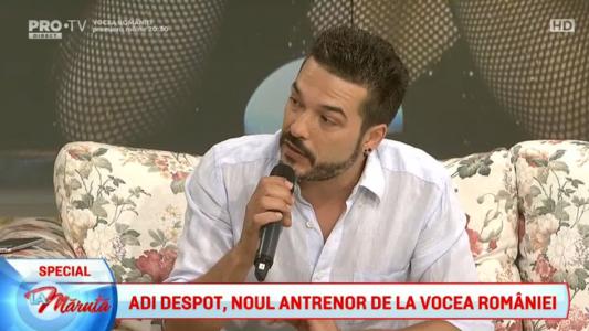 Adi Despot, noul antrenor de la Vocea Romaniei