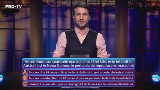 """Andi Moisescu: """"Daca stati prost cu tensiunea, asezati-va"""" :) Raspunsul Pe Bune si explicatia AICI - VIDEO"""