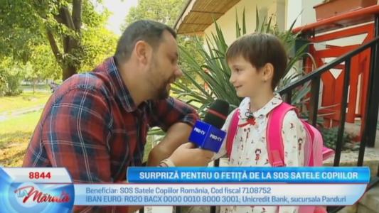 Surpriza pentru o fetita de la SOS Satele Copiilor