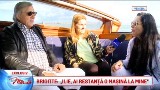 """Brigitte: """"Ilie, de ziua mea vreau o barca!"""""""