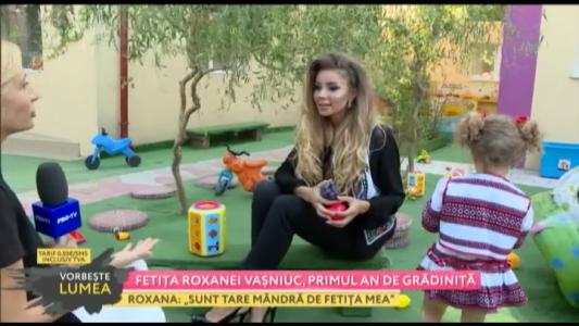 Fetita Roxanei Vasniuc, primul an de gradinita