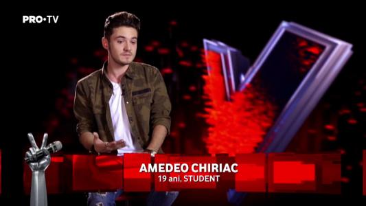 Vocea Romaniei - sezonul 7: Amedeo Chiriac - poveste