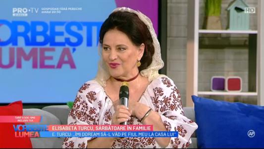 Elisabeta Turcu, sarbatoare in familie