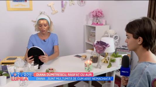 Diana Dumitrescu, rasfat cu aur