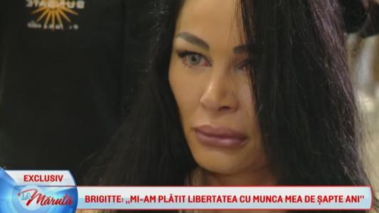 Brigitte, in lacrimi cu putin timp inainte de a pleca in vacanta din Dubai