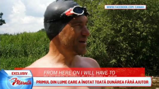 A inotat Dunarea, 2860 km in 89 de zile