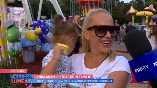 Anda Adam, distractie in familie