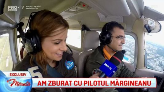 Am zburat cu pilotul Margineanu