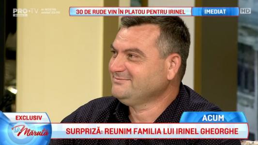Surpriza: reunim familia lui Irinel Gheorghe