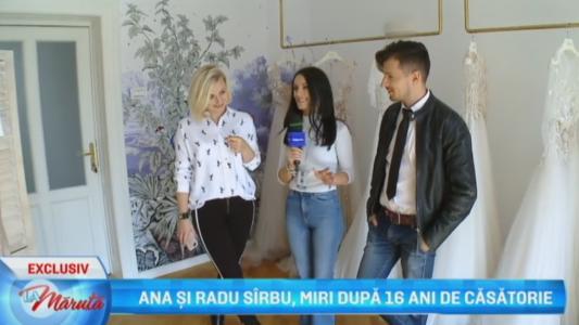 Ana si Radu Sirbu, miri dupa 16 ani de casatorie