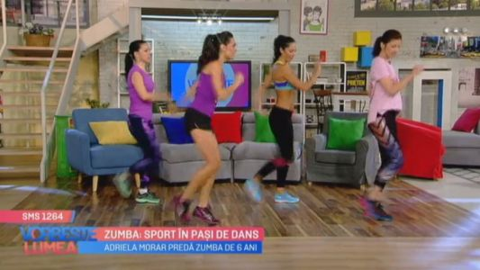 Zumba: sport in pasi de dans
