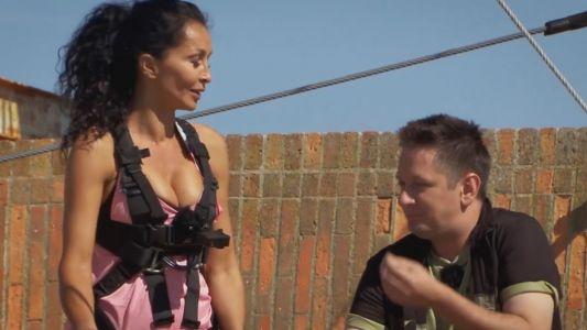 IMAGINI EXCLUSIVE din primul episod Fort Boyard - Mihaela Radulescu Schwartzenberg traverseaza Fortul la inaltime