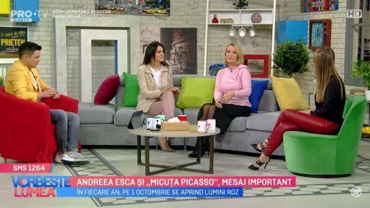 """Andreea Esca si """"Micuta Picasso"""", mesaj important"""
