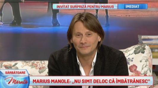 "Marius Manole: ""Nu simt deloc ca imbatranesc"""