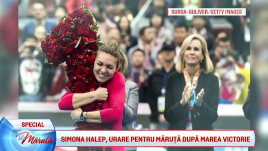 Simona Halep, urare pentru Maruta dupa marea victorie