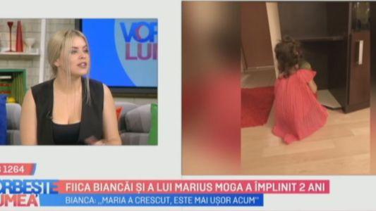 Fiica Biancai si a lui Marius Moga a implinit 2 ani