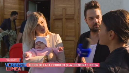 Tudor de la Fly Project si-a crestinat fetita