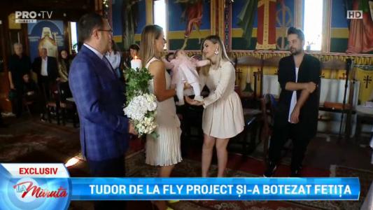 Tudor de la Fly Project si-a botezat fetita