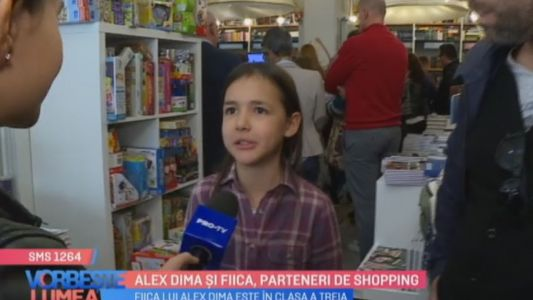 Alex Dima si fiica, parteneri de shopping