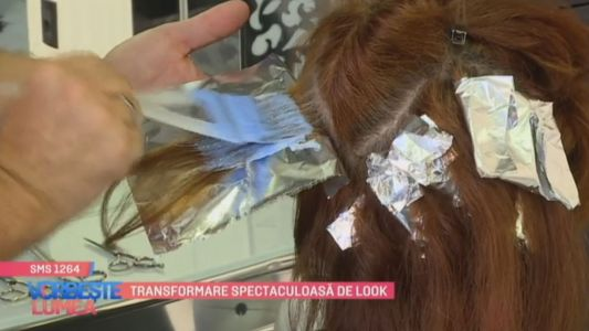Transformare spectaculoasa de look