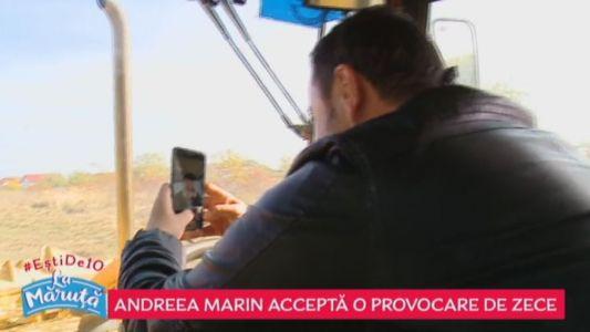 Andreea Marin accepta o provocare de zece