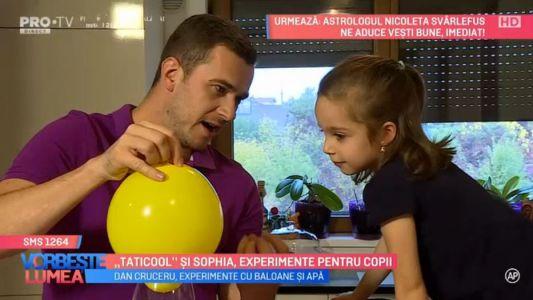 """""""Taticool"""" si Sophia, experimente pentru copii"""