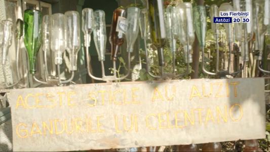 """Welcam la Muzeul lui Celentano! """"Aceste sticle au auzit gandurile lui Celentano"""""""