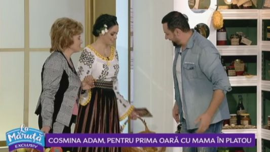 Cosmina Adam, pentru prima oara cu mamain platou