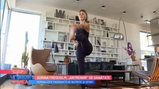 "Sorina Fredholm, ""antrenor"" de sanatate"