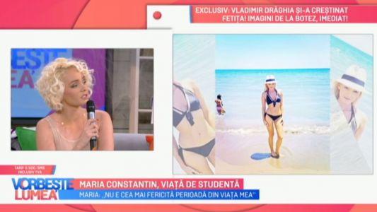 Maria Constantin, viata de studenta