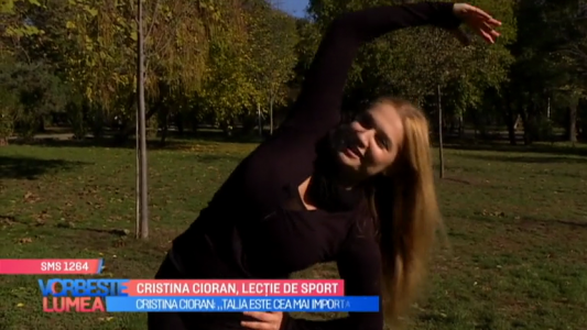 Cristina Cioran, lectie de sport