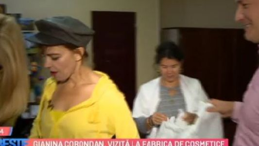 Gianina Corondan, vizita la fabrica de cosmetice