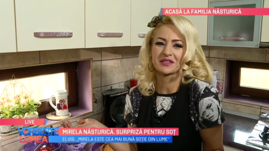Mirela Nasturica, surpriza pentru sot