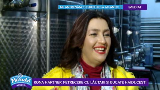 Rona Hartner, petrecere cu lautari si bucate haiducesti