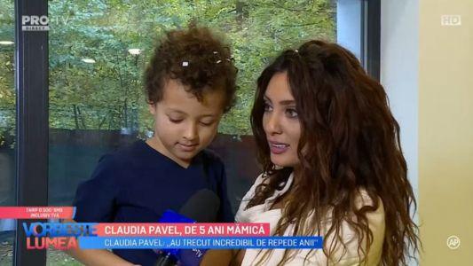 Claudia Pavel, de 5 ani mamica
