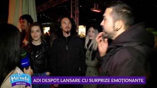 Adi Despot, lansare cu surprize emotionante