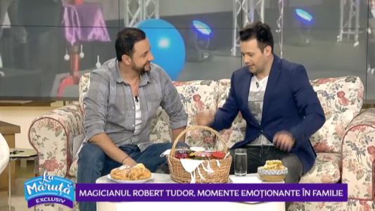 Magicianul Robert Tudor, momente emotionante in familie