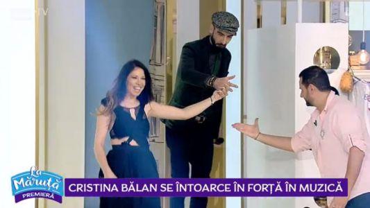 Cristina Balan se intoarce in forta in muzica