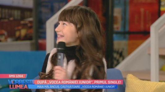 Dupa Vocea Romaniei Junior, primul single