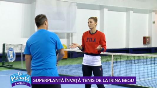 Superplanta invata tenis de la Irina Begu