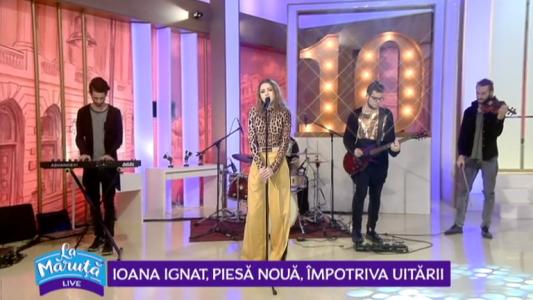 Ioana Ignat, piesa noua, impotriva uitarii
