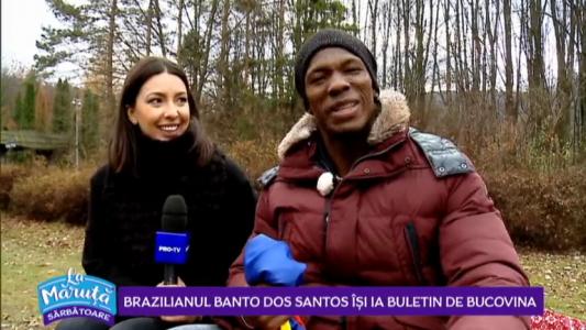 Brazilianul Banto Dos Santos isi ia buletin de Bucovina